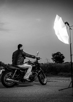 photography lighting workshop BTS Of A Bike Shoot